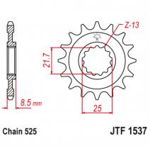 1537.16RB, Звезда ведущая , с демпфером, JT 1537.16RB