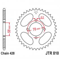 810.43, Звезда задняя (ведомая),(сталь) JT 810.43