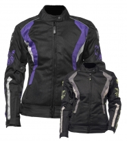 M01502 (черный/фиолетовый, XXS), Куртка текстильная  MOTEQ ROXY, женский, размер XXS, цвет черный