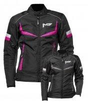M01505 (черный/серый, XXS), Куртка текстильная  MOTEQ ASTRA, женский, размер XXS, цвет черный