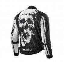 M01531 (Черный/Белый, S), Куртка текстильная сетка REBEL