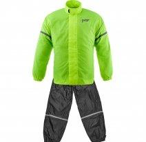 M01917 (черный/желтый, XXS), Дождевик MOTEQ SAHARA, раздельный (куртка + штаны), размер XXS, цвет черный