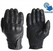 M02311 (Черный, XS), Перчатки мотоциклетные MOTEQ Ganter перфорация, мужской(ие), размер XS, цвет черный
