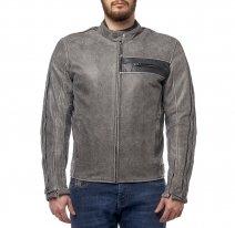 M08508 (Серый, S), Куртка кожаная  MOTEQ DEFENDER, мужской(ие), размер S, цвет серый