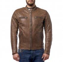 M08509 (Коричневый, S), Куртка кожаная  MOTEQ CORSAR, мужской(ие), размер S, цвет коричневый