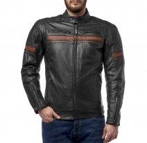 M08511 (черный/коричневый, S), Куртка кожаная  MOTEQ Challenger, мужской(ие), размер S, цвет черный
