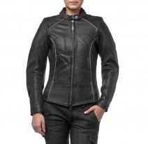 M08516 (Черный, XXS), Куртка женская Mira, кожаная