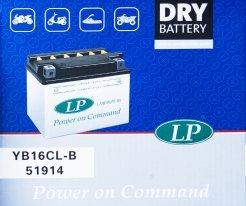 YB16CL-B, Аккумулятор сухозаряженый DRY YB16CL-B