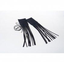 550-600, Кожаные чехлы на ручки с бахромой, пара
