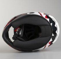 VATD38-M, Шлем интеграл Valor Touchdown, размер M, цвет бело-красный