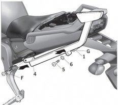 Y0FZ16ST, крепление для верхнего кофра SHAD на Yamaha FZ1 06-15