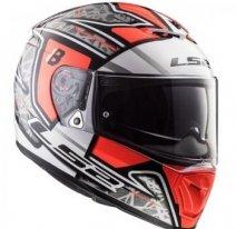 Мотошлем LS2 FF390 Breaker Challenge, черно-серо-красный