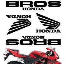 "decals_bros_white, Комплект наклеек ""honda bros"" white"