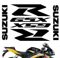"""decals_gsxr_pack_silver, Комплект наклеек """"suzuki gsxr pack"""" silver"""
