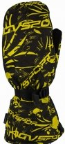 A07362 (Черный/Желтый, XS), Снегоходные Варежки Tundra, черный/желтый