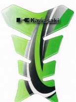 D7370-300-07, Накладка на бак kawasaki, зеленая, цвет Зеленая