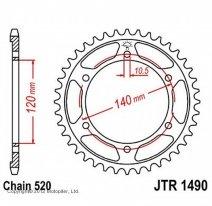 1490.37, Звезда задняя (ведомая) jtr1490 для мотоцикла стальная