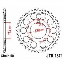 1871.48, Звезда задняя (ведомая) для мотоцикла JTR1871
