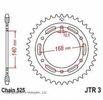 3.42, Звезда задняя (ведомая) JTR3 для мотоцикла стальная