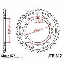 312.38, Звезда задняя (ведомая) jtr312 для мотоцикла стальная