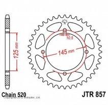 857.45, Звезда задняя (ведомая) JTR857 для мотоцикла стальная