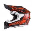 0200-012, Кроссовый шлем 2Series MANALISHI чёрно-оранжевый, размер S