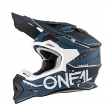 0200-034, Кроссовый шлем 2Series SLINGSHOT черно-синий, размер L