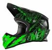 0603-602, Кроссовый шлем 3Series MERCURY чёрно-зеленый, размер S