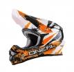 0623S-602, Кроссовый шлем 3series shocker чёрно-оранжевый, размер S