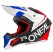 0624F-305, Кроссовый шлем 10Series FLOW красно-синий, размер XL