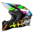 0624G-102, Кроссовый шлем 10 Series GLITCH чёрный/цветной, размер S