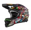 0627-10, Шлем кроссовый 3SERIES CRANK 2.0, красный/Зелёный, размер M