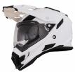 0815 (Термопластик, глянец, Белый, XL), Кроссовый шлем SIERRA ADVENTURE PLAIN белый