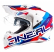 0817-303, Шлем кроссовый со стеклом Sierra II CIRCUIT, размер M, цвет белый