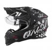 0817-602, Шлем кроссовый со стеклом Sierra II TORMENT, размер S, цвет черный