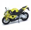 12810P, Модель мотоцикла BMW S1000RR 1:18, цвет жетый