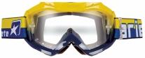 12960-CAG, Маска кроссовая colors синяя/желтая