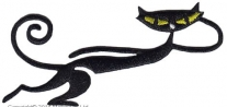 16861182, Бегущая кошка с термоклеем.