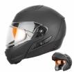 260-D10113, Снегоходный шлем модуляр с двойным стеклом MODE1 черный матовый, размер M