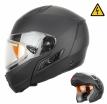 260-E10113, Снегоходный шлем модуляр с электростеклом MODE1 черный матовый, размер M