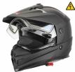260-E20423, Снегоходный шлем с электростеклом DSE1 черный матовый, размер M, цвет черный матовый
