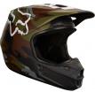 Fox Racing V1 Camo шлем кроссовый, зеленый камуфляж