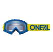 6024-113O, Маска кроссовая O'NEAL B-10 Youth, детская, синий, прозрачная линзы