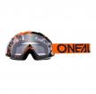 6024-302O, Маска кроссовая O'NEAL B-10 PIXEL, оранжевый, прозрачная линзы