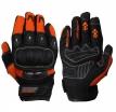 A01306 (Оранжевый/Чёрный, S), Текстильные перчатки TWIST, оранжевые, размер S, цвет оранжевые