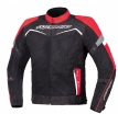 A02527-032-13, Текстильная куртка Testilo черно-красная, размер M, цвет красная