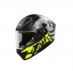 VAA3 (черный/желтый, L), Шлем интеграл Airoh Valor Akuna, глянец, размер L, цвет черный