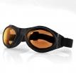 BA001A, Очки bugeye чёрные с янтарными линзами