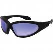 GXR001SB, Очки GXR чёрные с голубыми зеркальными линзами ANTIFOG