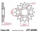 432.13SC, Звезда передняя (ведущая) JTF432 для мотоцикла стальная с самочисткой
